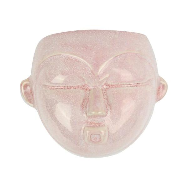 Ružový nástenný kvetináč PT LIVING Mask, 18,1 x 14,5 cm