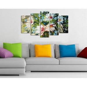 Pětidílný obraz Kytice, 110x60 cm