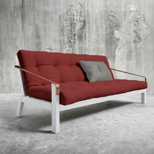 Canapea extensibilă Karup Poetry White/Passion Red/Granite Grey
