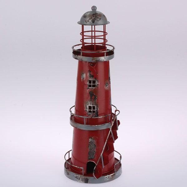 Kovový závěsný svícen Red Lighthouse, 32 cm