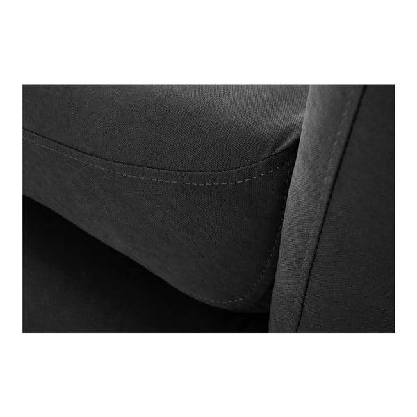 Černá trojmístná pohovka Scandi by Stella Cadente Maison, pravý roh