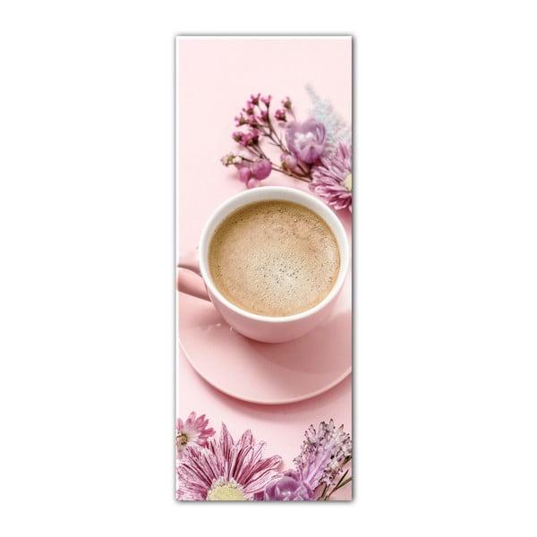 Obraz Styler Glasspik Cute Cup, 30 x 80 cm