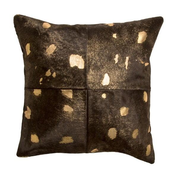 Kožený polštář Cotex Capa Goldie, 45 x 45 cm