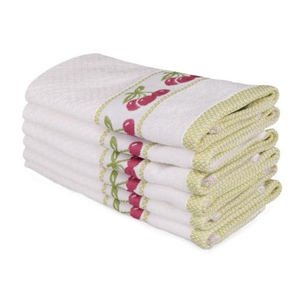 Sada šesti ručníků s motivem třšení Cherry