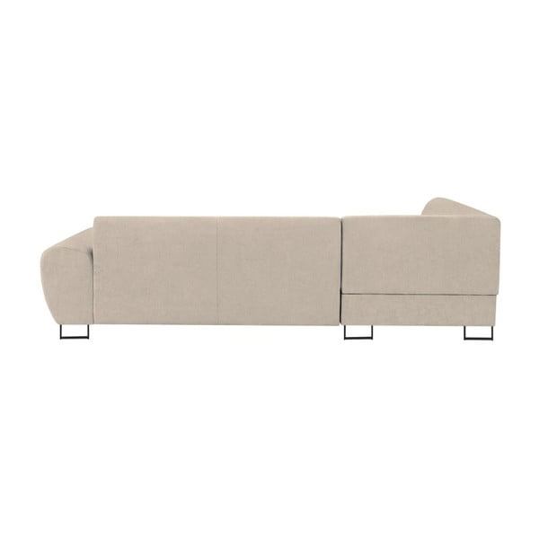 Canapea extensibilă cu spațiu pentru depozitare Kooko Home XL Right Corner Sofa Piano,bej