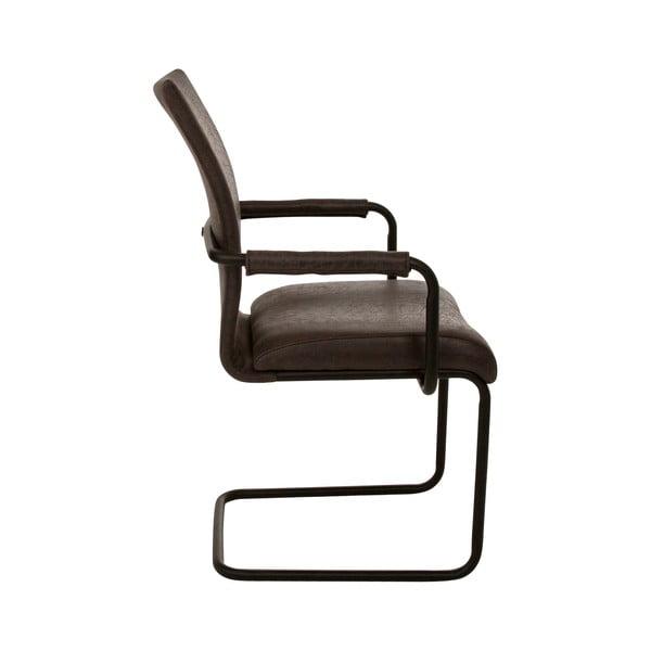 Šedá jídelní židle s područkou Canett Clipper