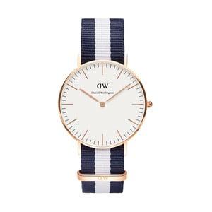 Dámské modro-bílé hodinky Daniel Wellington Glastonbury