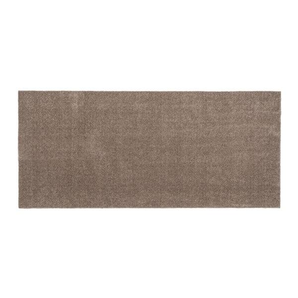 Hnědobéžová rohožka tica copenhagen Unicolor, 67x150cm