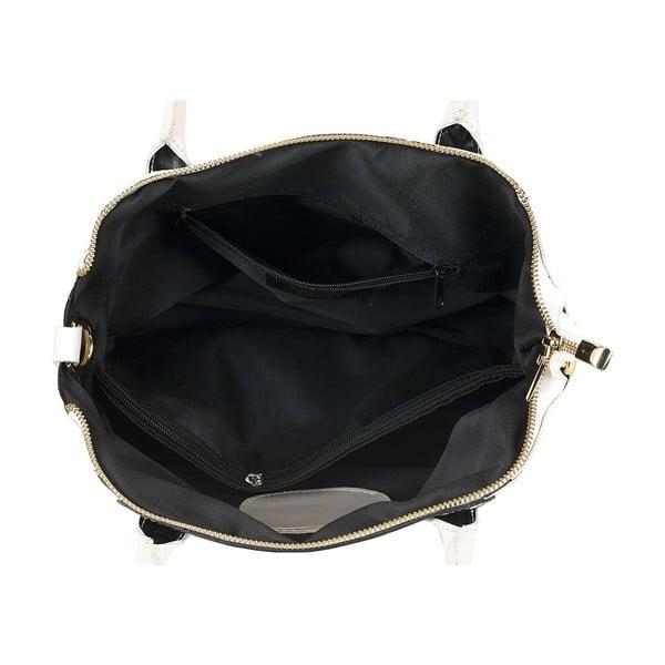 Kožená kabelka Bounty White Black