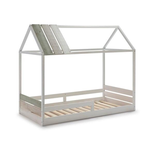 Bílá dětská postel s konstrukcí z borovicového dřeva Marckeric Ilenia