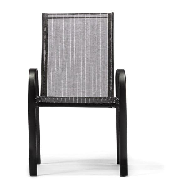 Čierna záhradná stolička Timpana Ghana