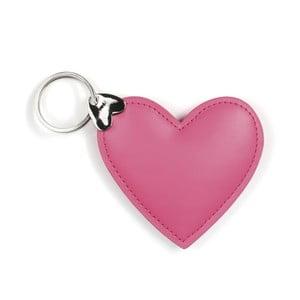 Růžový přívěšek na klíče GO Stationery Hearts Key