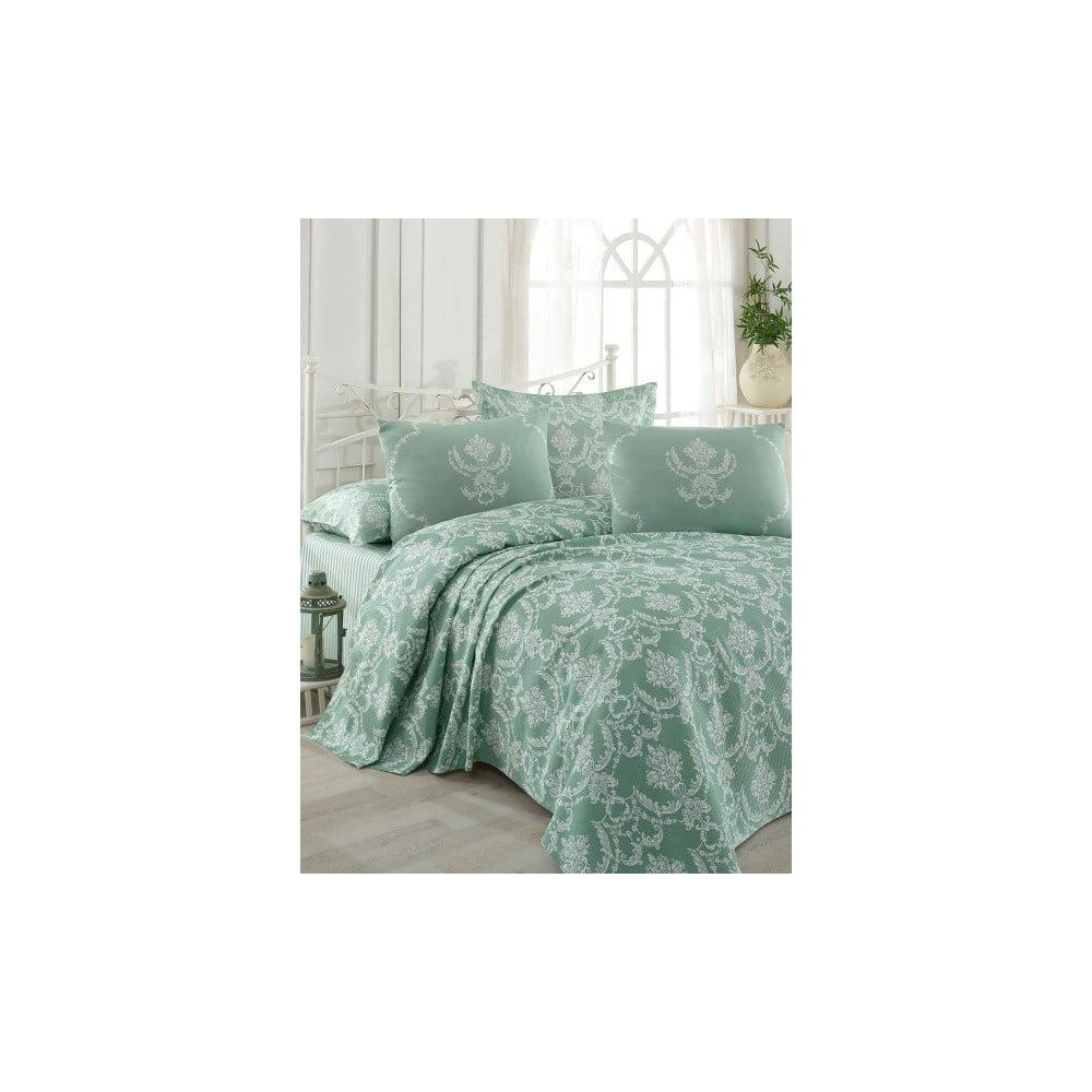 Přehoz přes postel na dvoulůžko s povlaky na polštáře a prostěradlem Pure,200x235cm