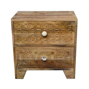 Odkládací stolek z masivního mangového dřeva Massive Home Ella, délka50cm