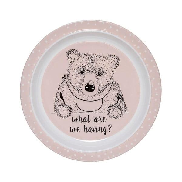 Farfurie din melamină pentru copii Bloomingville Nelly, ⌀ 22 cm