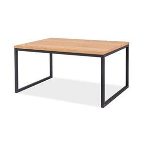 Konferenční stolek s deskou v dubovém dekoru a černou ocelovou konstrukcí Signal Largo, délka80cm