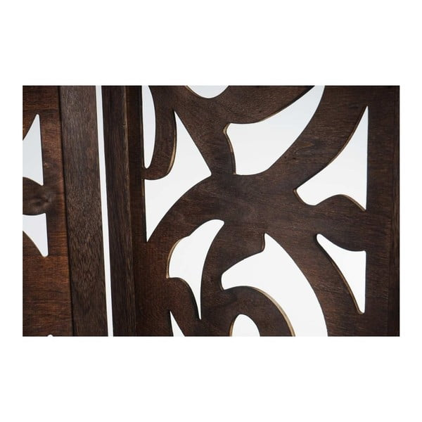 Paravan Ornaments Brown, 161x170 cm