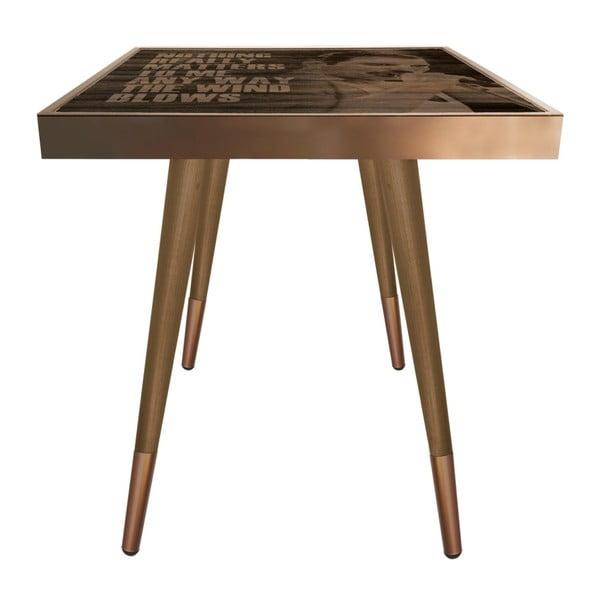 Príručný stolík Caresso Freddie Mercury Square, 45 × 45 cm