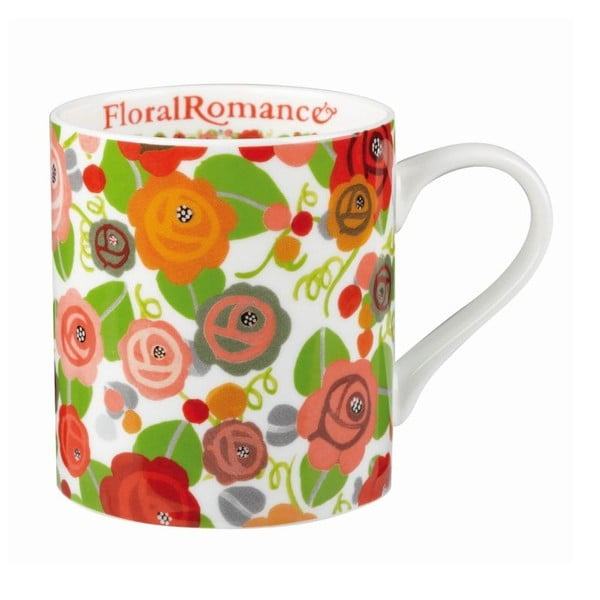 Hrnek JD Floral Romance, 340 ml