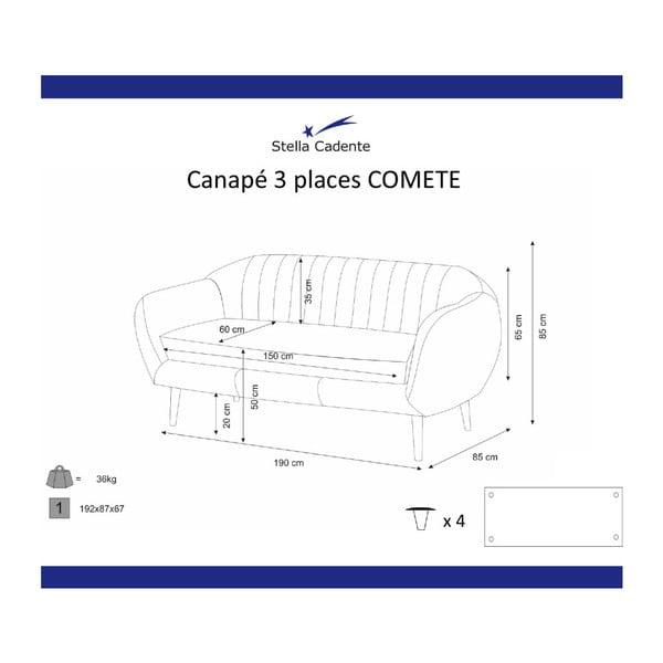 Canapea cu 3 locuri Scandi by Stella Cadente Maison Comete, mov