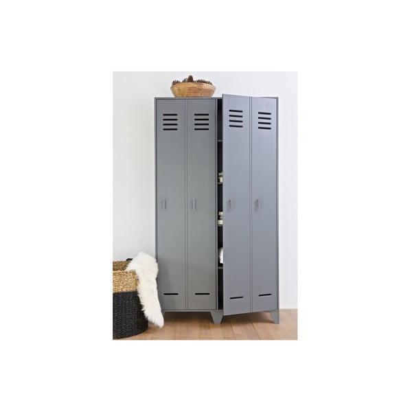 Dvoukřídlá skříň Stijn, šedá