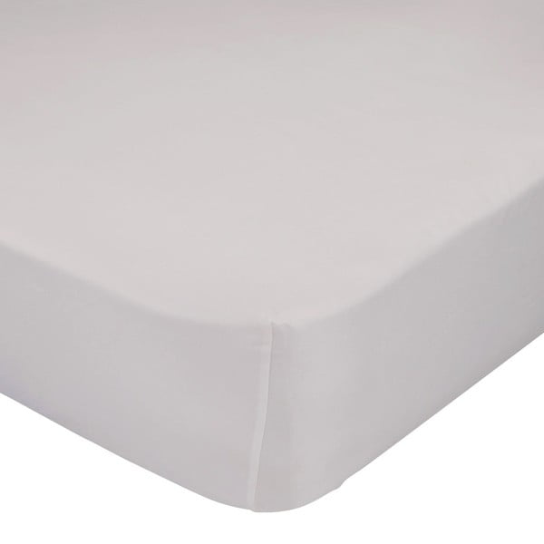 Béžové elastické prostěradlo HF Living Basic, 90x200cm