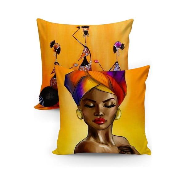 Set 2 fețe de pernă Minimalist Cushion Covers Cesseo, 45 x 45 cm