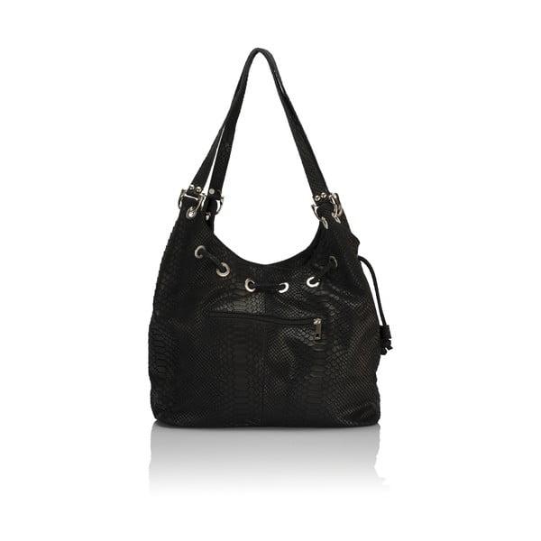 Černá kožená kabelka Lisa Minardi Divisa