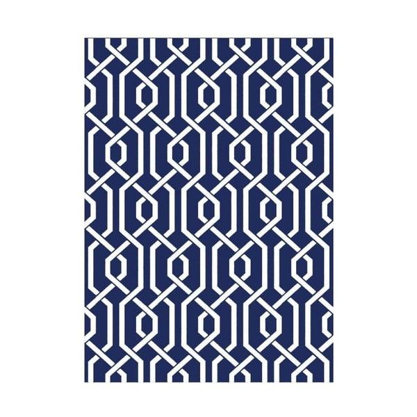 Vlněný koberec Camila Blue, 155x240 cm