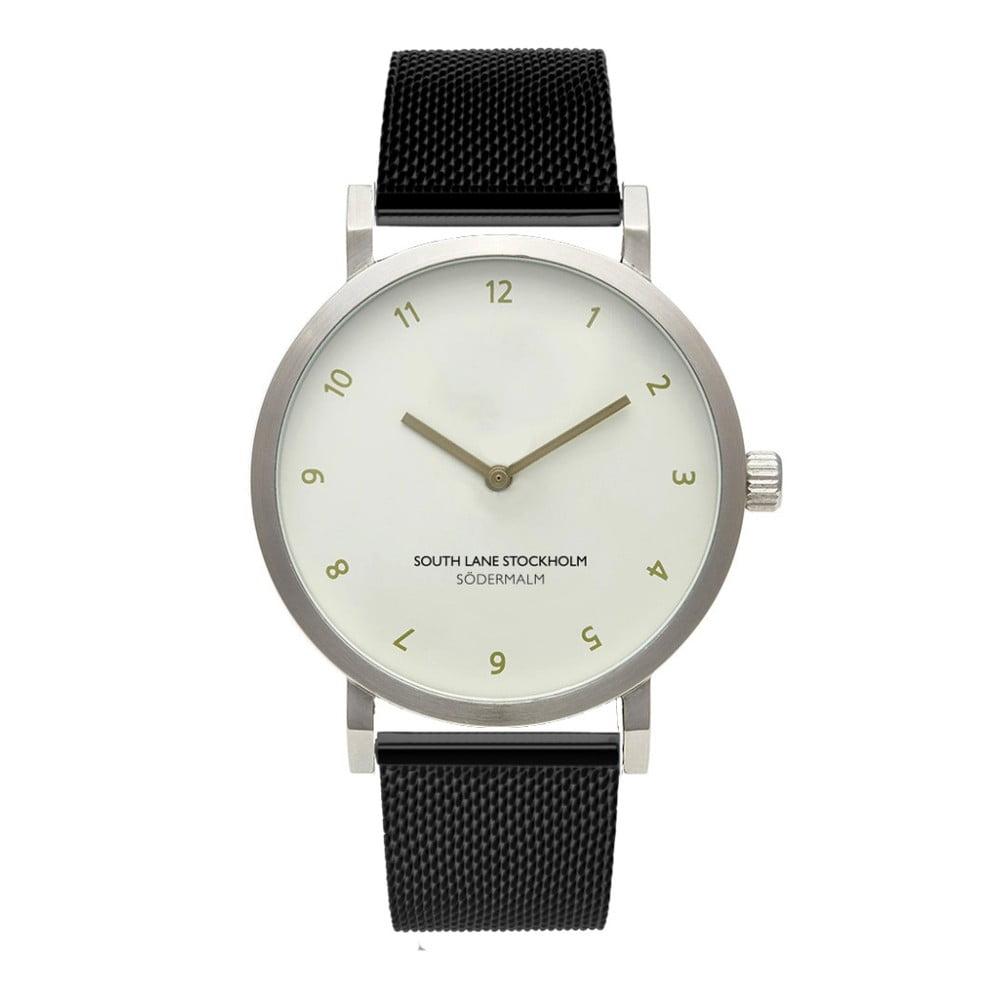 Unisex hodinky s černým řemínkem South Lane Stockholm Sodermalm Simplicito Black