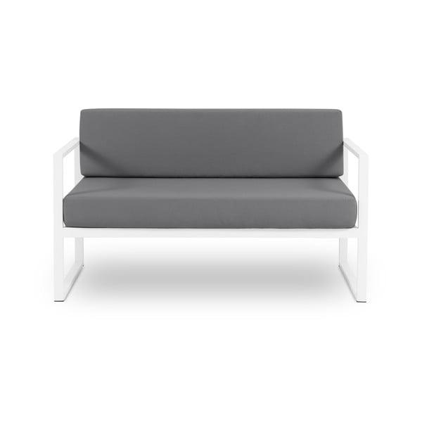 Canapea cu două locuri Calme Jardin Nicea, gri grafit