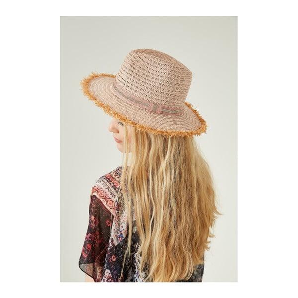 Ružový dámsky slamený klobouk Alexander McKensey Parlak
