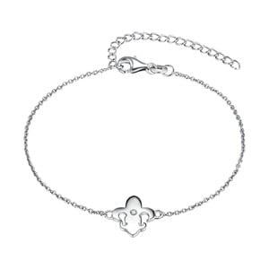 Stříbrný náramek s pravým diamantem Tess Diamonds Valentina