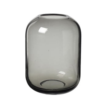 Vază din sticlă Blomus Bright, înălțime 21,5 cm, gri