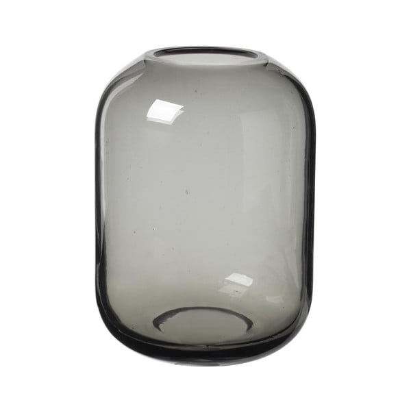 Sivá sklenená váza Blomus Bright,výška21,5cm