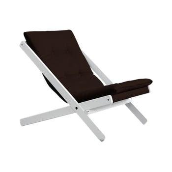 Fotoliu pliant Karup Design Boogie White/Brown