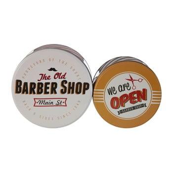 Set 2 cutii depozitare din tablă Premier Housewares Barber Shop