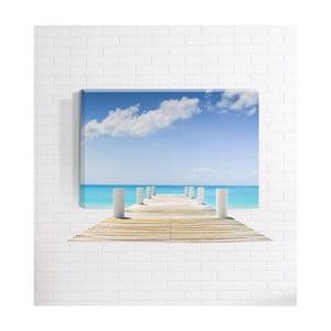Nástěnný 3D obraz Mosticx Pláž, 40 x 60 cm