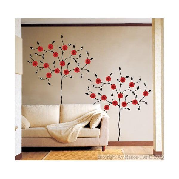 Autocolant Fanastick Red Gerbera Tree