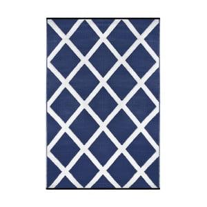 Modrý oboustranný venkovní koberec Green Decore Diamond, 90 x 150 cm