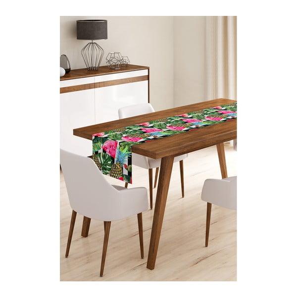 Melon and Pineapple Black mikroszálas asztali futó, 45 x 145 cm - Minimalist Cushion Covers