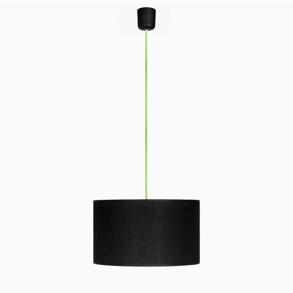 Závěsné svítidlo Tres L, zelená/černá