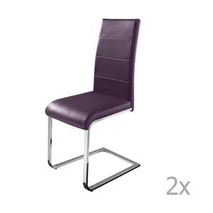 Sada 2 fialových jídelních židlí Støraa Cara