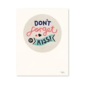 Plakát Michelle Carlslund Don't Forget Kiss, 30x40cm