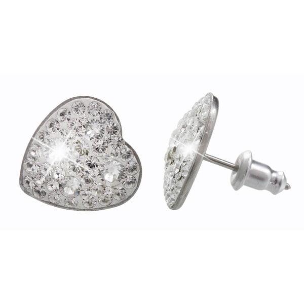 Náušnice s krystaly Swarovski® Yasmine Heart Crystal