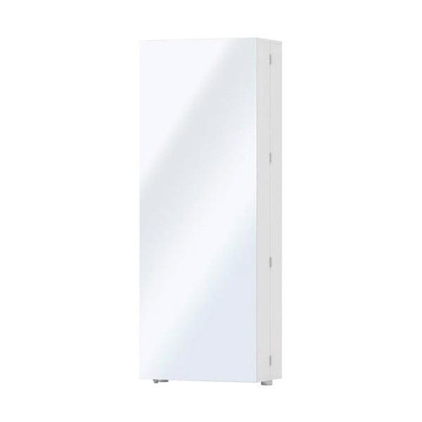 Bílý botník se zrcadlem Evergreen House Welcome