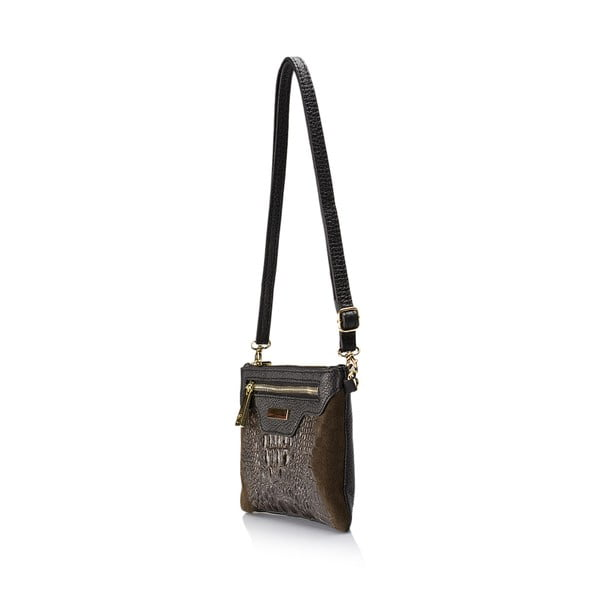 Hnědá kožená kabelka Lisa Minardi Veronica