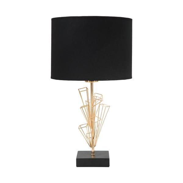 Lampa stołowa w kolorze czarno-złotym Mauro Ferretti Glam Olig, wysokość 45 cm