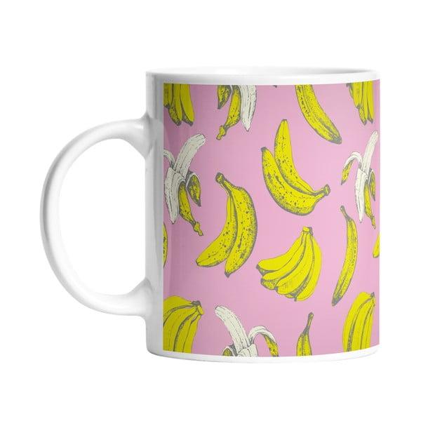 Keramický hrnek Banana in Pink, 330 ml