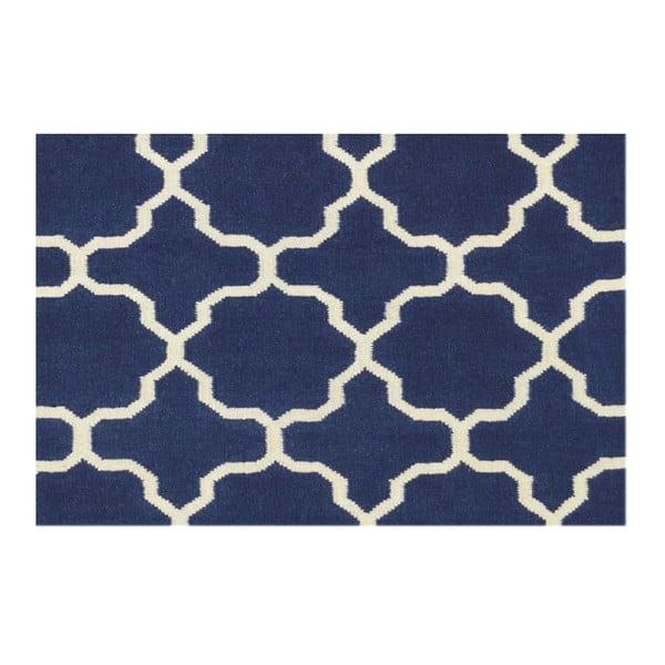 Ručně tkaný koberec Maria Blue/White, 140x200 cm